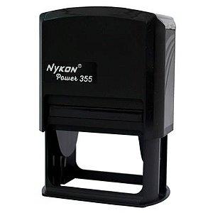 Carimbo Automático Nykon Black 355 - Preto