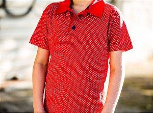 Camisa Polo Infantil Estampada Manga Curta