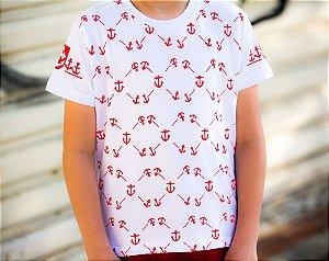 Camiseta Infantil Estampada Âncora Manga Curta