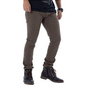 Calça Jeans Skinny Verde Militar Rota 77