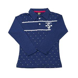 Camiseta Polo Manga Longa Infantil