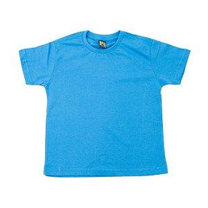Camiseta Gola Careca Manga Curta Infantil Varias Cores