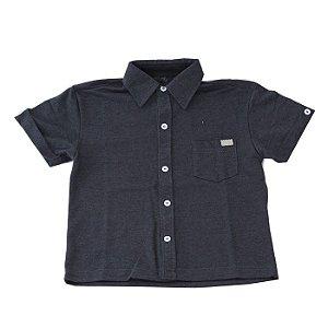 Camisa de Botão Infantil Manga Curta