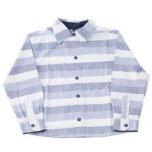 Camisa de Botão Infantil Manga Comprida