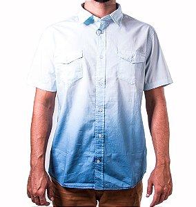 Camisa Manga Curta Degradê Azul