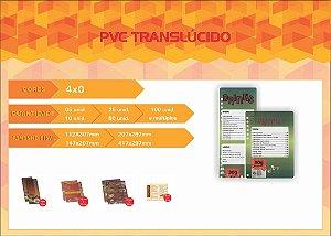 CARDÁPIOS - PVC TRANSLUCIDO - 4x0 COR