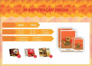 CARDÁPIOS - PLASTIFICAÇÃO RÍGIDA 0,10MM 4X0 C0R