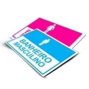 PLACA DE SINALIZAÇÃO PVC - PVC 0,30 - 4x0