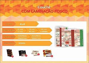CARDÁPIOS - COM LAMINAÇÃO FOSCO 4X4