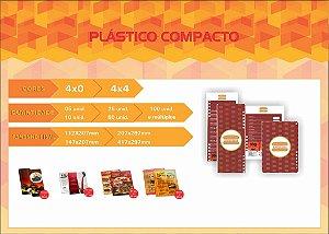 CARDÁPIOS - PLÁSTICO COMPACTO 0,5MM 4x0