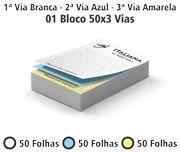 Bloco 15X21 cm - 03 vias-Pedidos-Comandas-Recibos