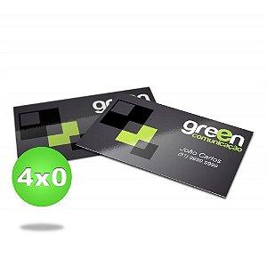 Cartão de visita - Colorido Frente (4 x 0 Cores CMYK) - Papel Couche 250 gr - Verniz total Frente