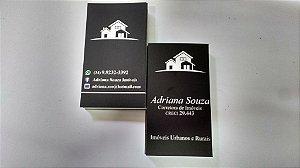 Cartão de visita - Colorido frente e verso ( 4 x 4 Cores CMYK) - Papel Couche 300 gr - Laminação Fosca Bopp
