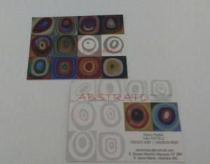 Cartão de visita grande - Colorido frente e verso (04x04 Cores CMYK) - Papel Couche 300 gr - Verniz Local