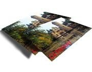 Cartão de vista hot stamping formato duplo