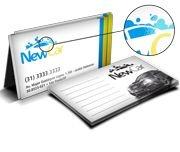 Cartão de visita - Colorido Frente (4 x 1 Cores CMYK) - Papel Co.300 gr - Verniz local Frente