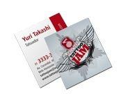 Cartão de visita - Mini Colorido (4 x 4 Cores CMYK) - Papel Co.300 gr - Verniz local Frente e verso