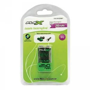 Bateria 9 V Recarregável  - Flex