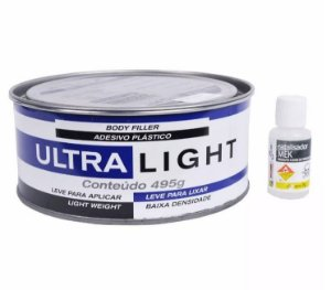 Massa Plástica Ultra Light 495gb com catalizador - Maxi Rubber