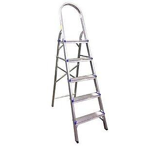 Escada Doméstica em Alumínio com 5 Degraus - Real Escadas