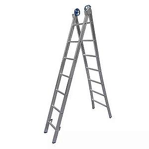 Escada Alumínio Abrir e Extensiva 4x1 Comercial 7 Degraus