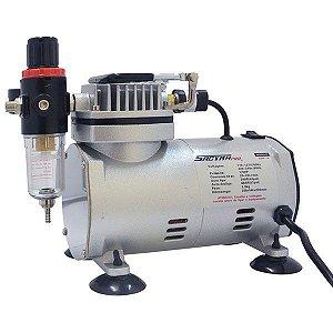 Compressor para Aerógrafo 1/6 HP Com Filtro de Ar Sagyma