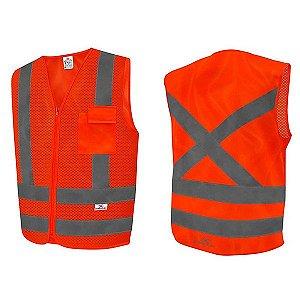 Colete Refletivo Blusão 1 bolso Laranja - SteelFlex