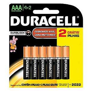 Pilha Tipo Aa 4+2 Un Alcalina Original - Duracell