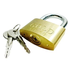 Cadeado 60mm Chave Tetra - Gold