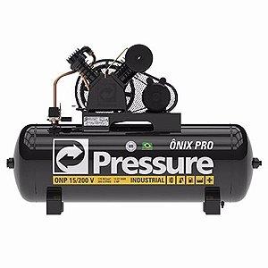 Compressor 15-200L com motor de 3HP Onix Pro Monofásico - Pressure