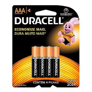 Pilha AAA 4 unid Alcalina - Duracell