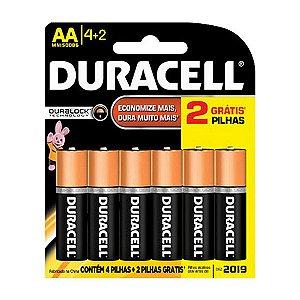 Pilha Tipo AAA Palito 4+2 Un Alcalina Original - Duracell
