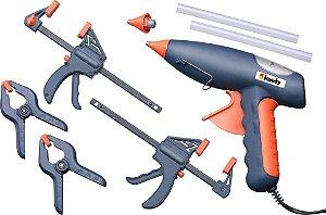 Pistola de Silicone Profissional 80w com Maleta e Acessórios - KWB