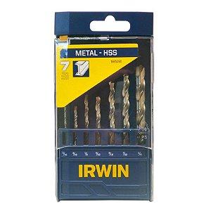 Jogo de Brocas A.R Para Metal 07 Peças 1/16 a 1/4 - Irwin
