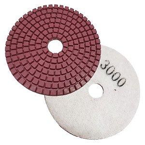 Disco Polimento com Fixação Aderente 100mm GR 3000 - Uzzy