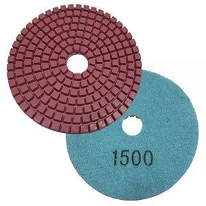Disco Polimento com Fixação Aderente 100mm GR 1500 - Uzzy