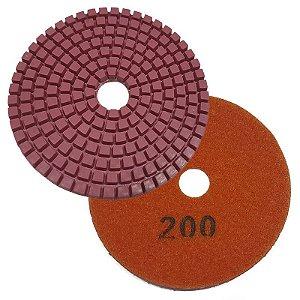 Disco Polimento com Fixação Aderente 100mm GR 200 - Uzzy