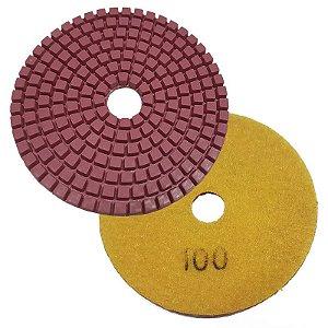 Disco Polimento com Fixação Aderente 100mm GR100 - Uzzy