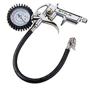 Calibrador de Pneu com Manômetro 220lb Encaixe Rosca 1/4 - Stels