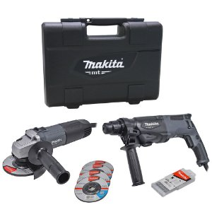 "Combo Martelete Rotativo + Esmerilhadeira 4.1/2"" 127V MTK0001GX1 - Makita"