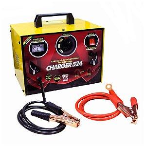 Carregador De Baterias 12V Charger 524 Box 50Amp - V8