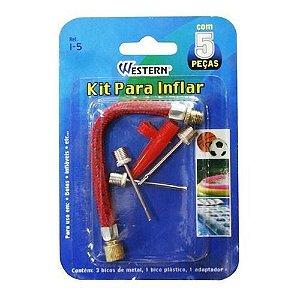 Bico Inflador Kit com 5 Peças - Western