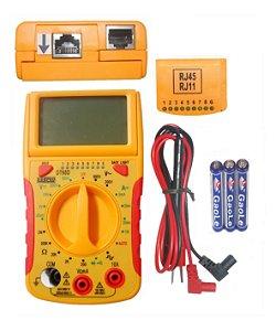 Multímetro Digital com Teste Rede DT68D - Lee Tools