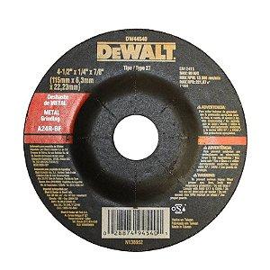 Disco para Desbaste 4.1/2 x 7/8 DW44540 - Dewalt
