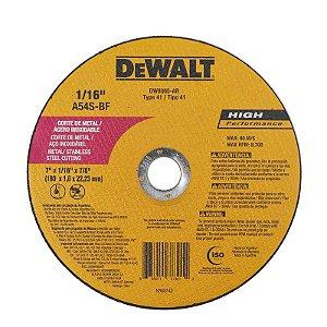 """Disco de Corte Aço Inox e Alumínio 7"""" DW8065-Ar - Dewalt"""