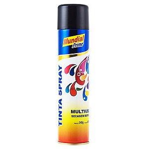 Tinta Spray Preto Brilhante - Mundial Prime