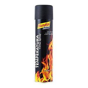Tinta Spray Alta Temperatura Preto Fosco - Mundial Prime