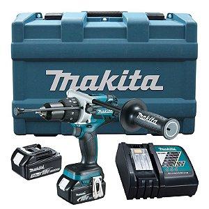 Furadeira e Parafusadeira de Impacto a Bateria 18V DHP481RFE Makita