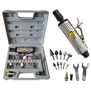 Retífica Pneumática 1/4 com Kit 0611BK - Maxx Tools