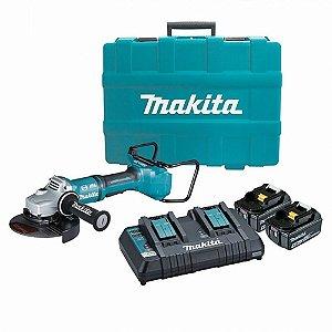 """Esmerilhadeira 9"""" 36v Angular à Bateria DGA900PT2 220V Makita"""